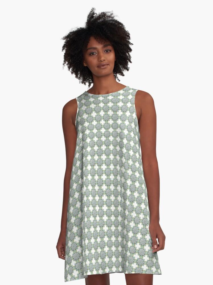 Venus Yantra A-Line Dress Front