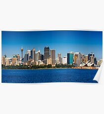 Panoramic skyline of Sydney Poster