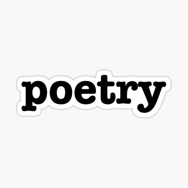 Poetry Serif - Book Lover Artist Sticker