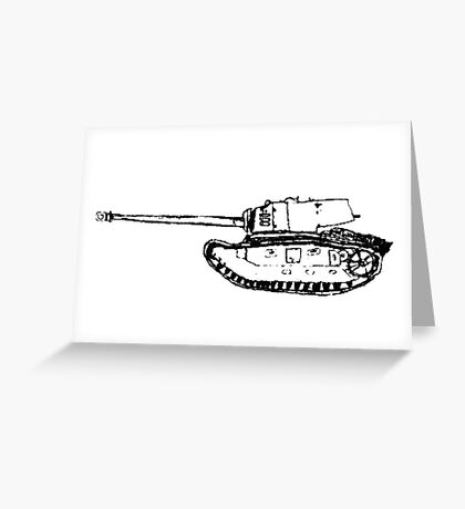 tank Greeting Card