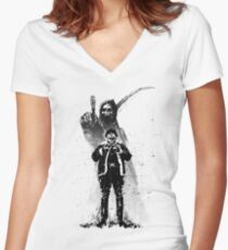 No Heroes Women's Fitted V-Neck T-Shirt