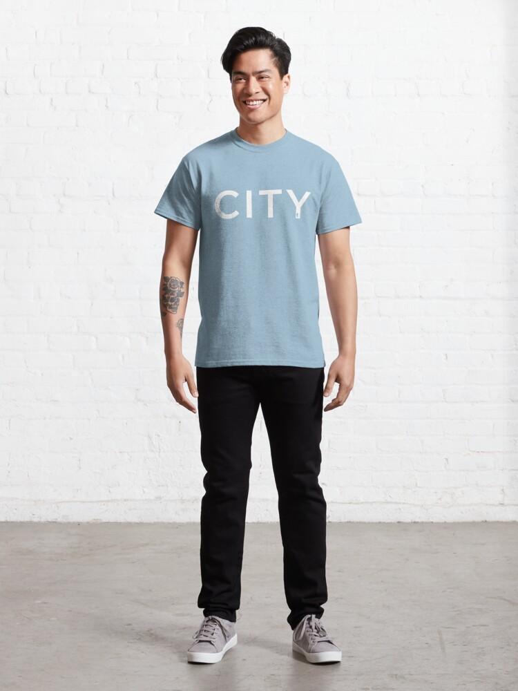 Alternate view of CITY   Sky Blue & White Classic T-Shirt