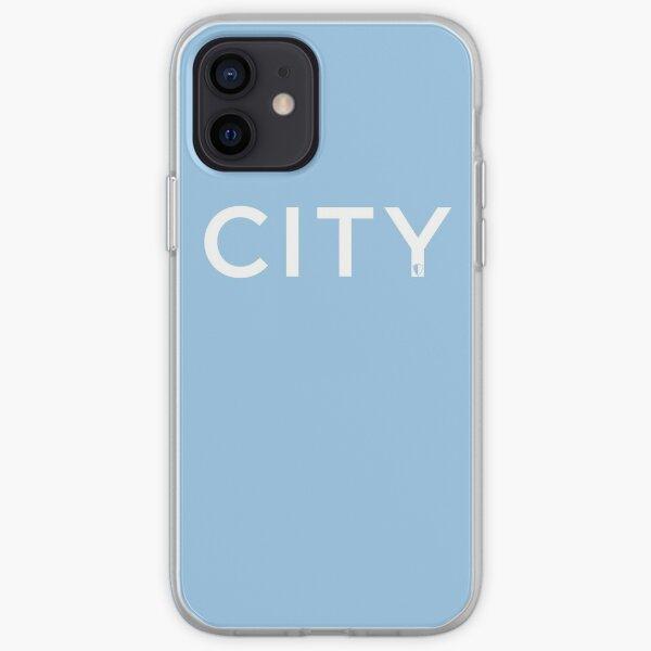 CITY   Sky Blue & White iPhone Soft Case