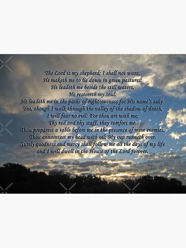 23rd Psalm Bible Verse The Lord Is My Shepherd Canvas Print