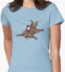 Phil Groundhog Superhero  Womens Fitted T-Shirt