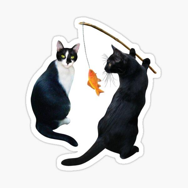 Fishing Cats Sticker