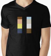 Minimalistic Rick And Morty Men's V-Neck T-Shirt