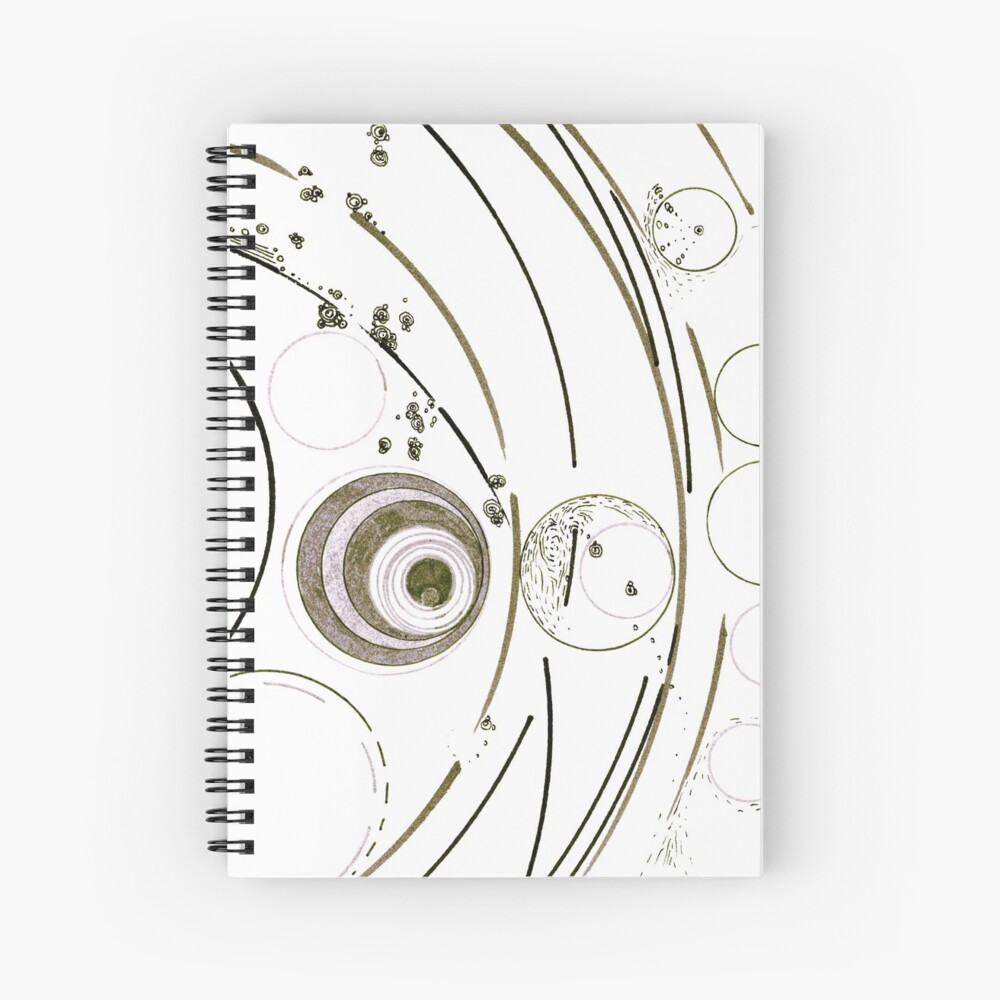 Planetary nursery - ink on paper Spiral Notebook