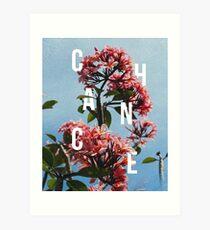 Chance the Rapper - Floral Shirt Design Art Print