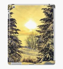 Winter snow sunset scene  iPad Case/Skin
