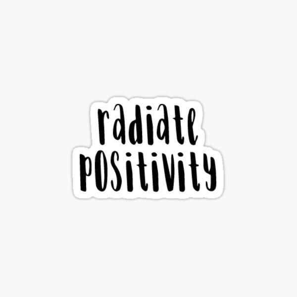 Radiate Positivity Sticker