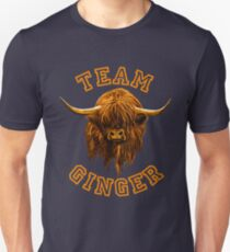 Team Ginger Scottish Highland Cow Unisex T-Shirt