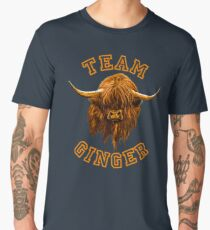 Team Ginger Scottish Highland Cow Men's Premium T-Shirt