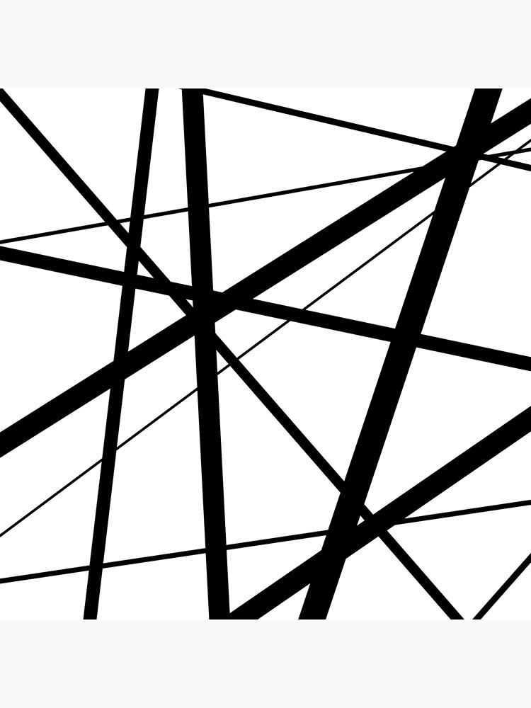 Black and White Geometric Lines by UrbanEpiphany