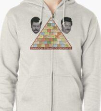 Swanson Pyramid of Greatness Zipped Hoodie