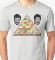 Swanson Pyramid of Greatness Unisex T-Shirt
