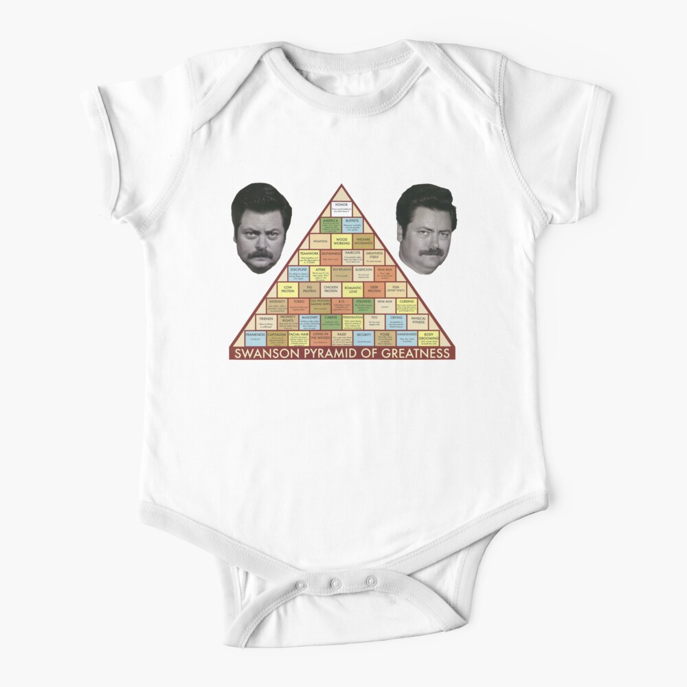 Swanson Pyramid of Greatness Baby One-Piece