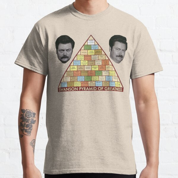 Swanson Pyramid of Greatness Classic T-Shirt