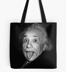 Bolsa de tela Albert Einstein Funny Tongue