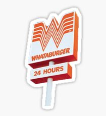 Pegatina signo de whataburger