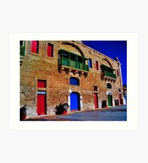 Valletta Waterfront Art Print