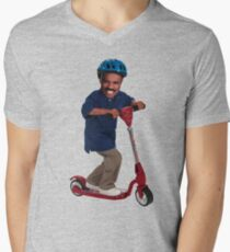 """""""This is Steve Harvey as a Five Year Old Riding a Scooter"""" Men's V-Neck T-Shirt"""