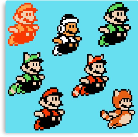 Art Super Mario Bros 3 Mario Pixel Art