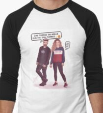 Agoney & Miriam - OT2017 Men's Baseball ¾ T-Shirt