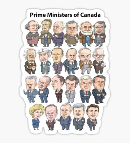 Prime Ministers of Canada Sticker