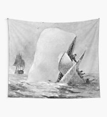 Moby Dick Book Vintage Wall Tapestry