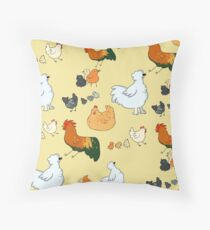 Chicken Party Throw Pillow