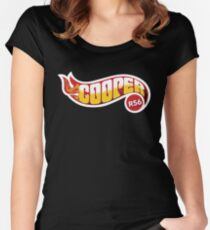 R56 Cooper Flames Women's Fitted Scoop T-Shirt