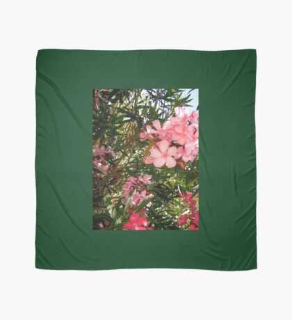 Pink and red oleanders Scarf