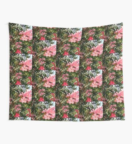 Pink and red oleanders Wall Tapestry