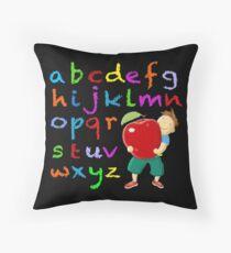 Chalkboard Alphabet Throw Pillow