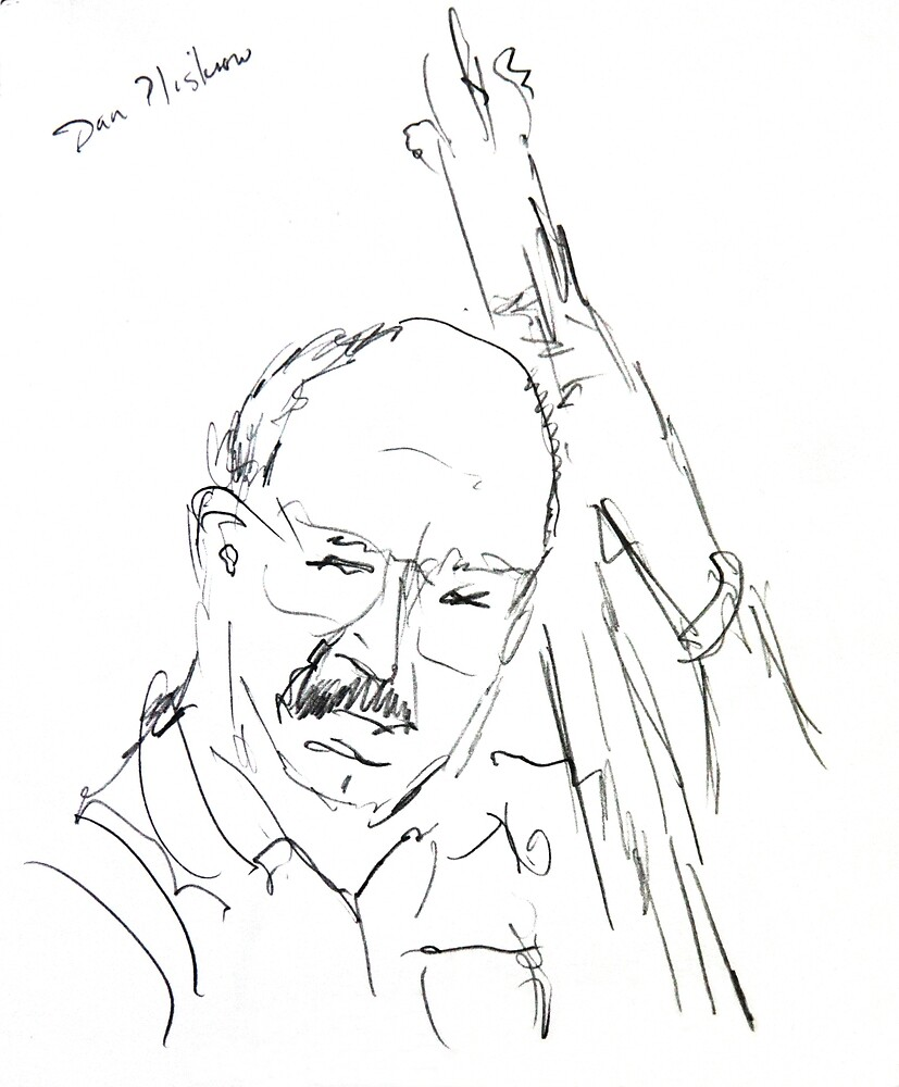 Dan Pliskow Playing the Bass in Concert by Jim Vansant