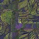 """""""Tree Hugger - Green & Purple"""" by kcd-designs"""