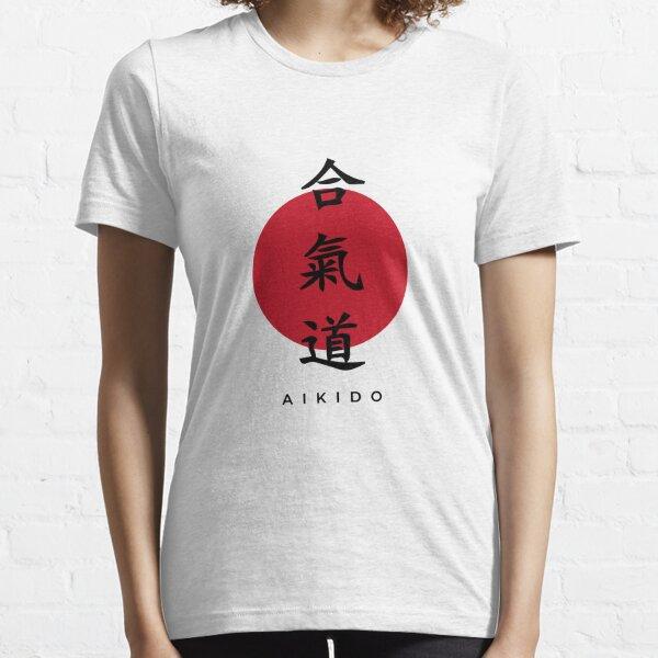 Aikido Kanji Design with Black Text Essential T-Shirt