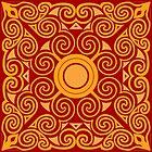 Keltisches Mandala - Golden von bunbun369