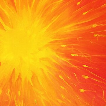 The Blazing Sun in Red and Yellow by MonicaArtist