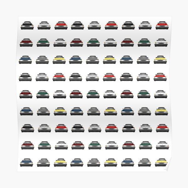 Saab 900 - Pattern Poster