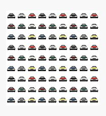 Saab 900 - Pattern Photographic Print