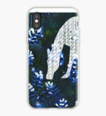 Horsing around blue bonnets iPhone Case
