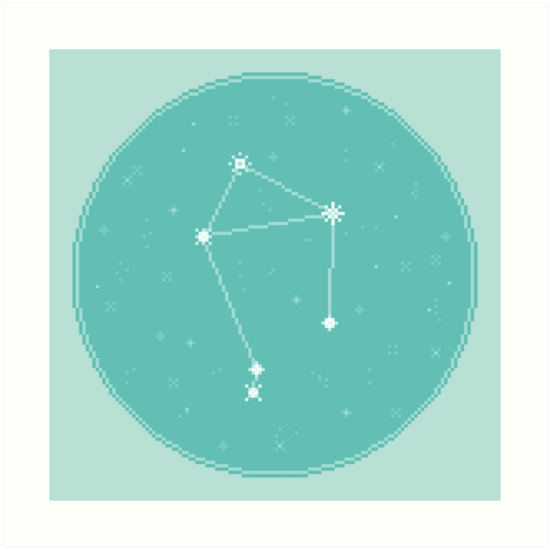 8bit Constellations:  Libra by sp8cebit