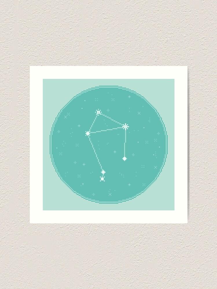 Alternate view of 8bit Constellations:  Libra Art Print