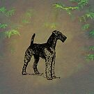 Airedale by David Dehner