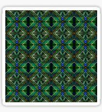 Graphic Mirrored Peacock Sticker