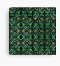 Graphic Mirrored Peacock Canvas Print