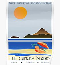 Canary Islands Art Deco Poster