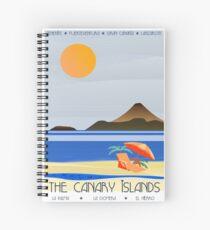 Canary Islands Art Deco Spiral Notebook